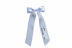 Small Christening Bow on short Ribbons BF4-Blue Bell